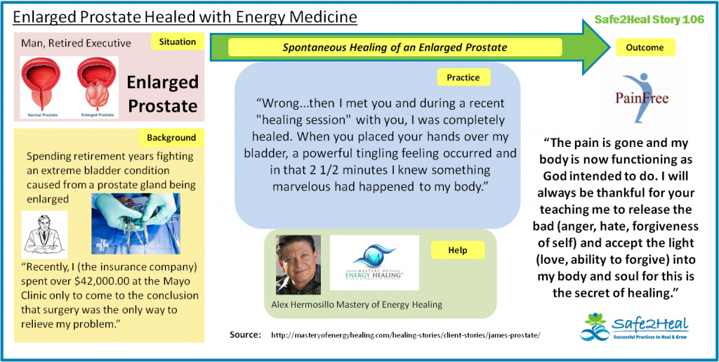 S2HStory106: Enlarged Prostate Healed with Energy Medicine